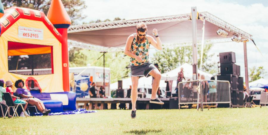 Brandon Melançon, online media manager for KNWD, attended DemonFest in 2016 and creates advertisements for this year's festival. Photo by Karalee Scouten