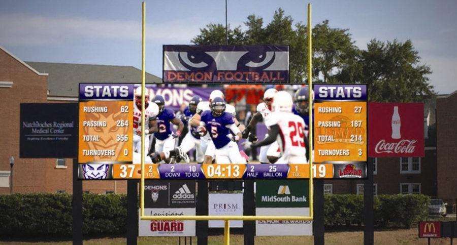 Bright lights, big scoreboard
