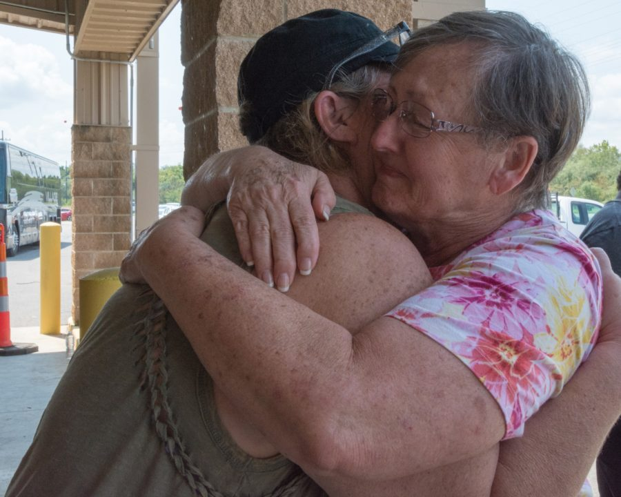 Cindy+Deranger%2C+survivor+of+Hurricane+Harvey%2C+tries+not+to+weep+as+her+friend%2C+Tina+Martinez%2C+arrives+at+Louisiana+state-operated+shelter+in+Alexandria%2C+Louisiana%2C+to+take+her+home+to+Vidor%2C+Texas.+Cindy+will+not+be+able+to+return+to+her+own+home+yet%2C+but+she+will+be+with+friends+and+her+husband+as+they+begin+the+recovery+from+devastation.+Photo+credit%3A+Sharon+Karr%2FFEMA