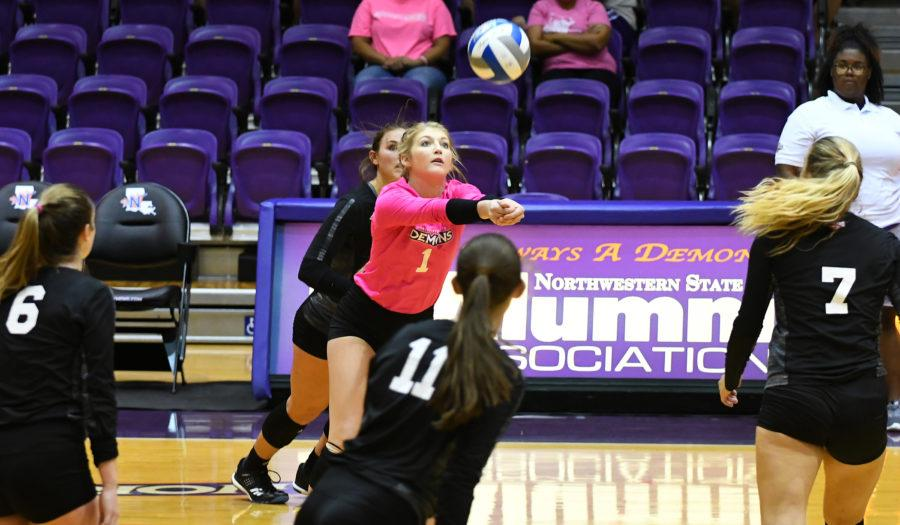 Volleyball star Burleson digs her way into NSU history