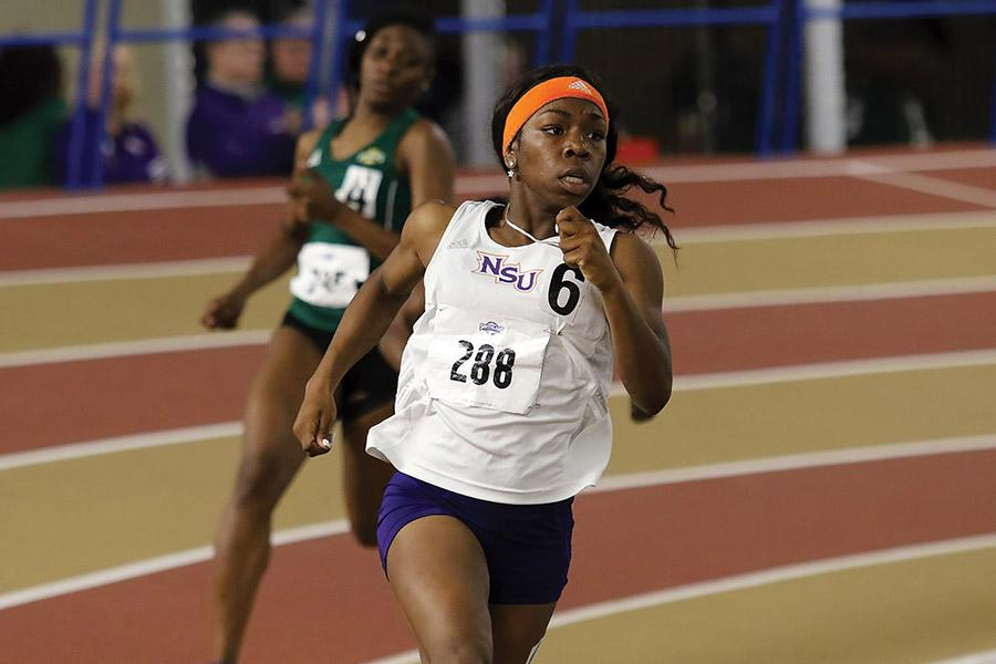 Natashia+Jackson+competed+in+four+events+at+the+Southland+Conference+Indoor+Championships.++Photo+by+Mike+Wade+