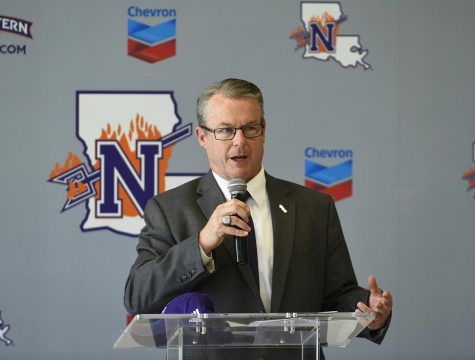 NSU's Director of Athletics Greg Burke noted that athletic programs are always looking to overcome adversity.