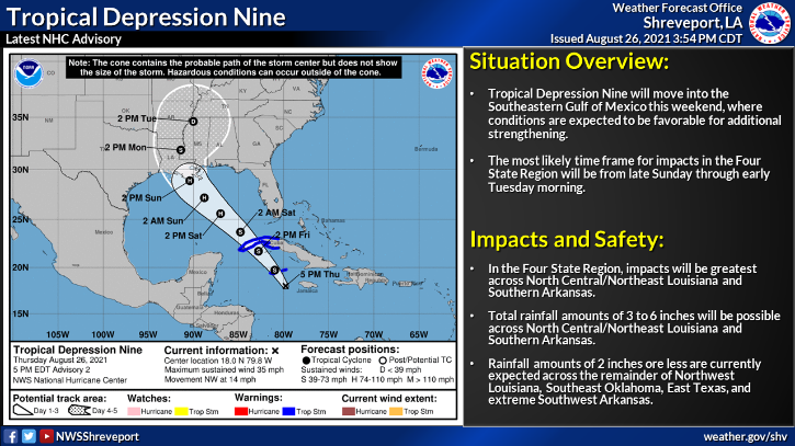 The ninth tropical depression of the year is expected to become a hurricane by Saturday, Aug. 28 and is projected to be at least a category 3 hurricane.
