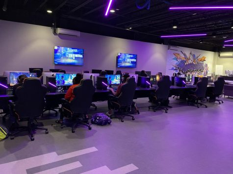 ESports is a competitive way to game against other colleges and/or students t NSU.