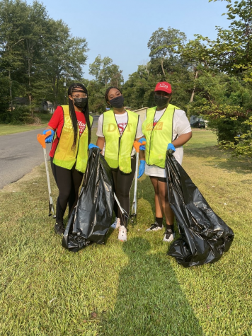 Members of the National Pan-Hellenic Council helped clean up the Natchitoches community during NPHC Week