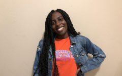 Lyndsay Brown smiles through the semester.